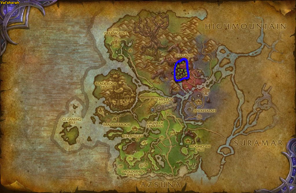 Location of Vilepetal Rooter and Defiled Grovewalker.