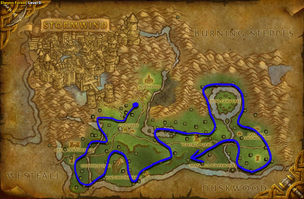 Best route for Silverleaf farming in Elwynn Forest – Alliance.
