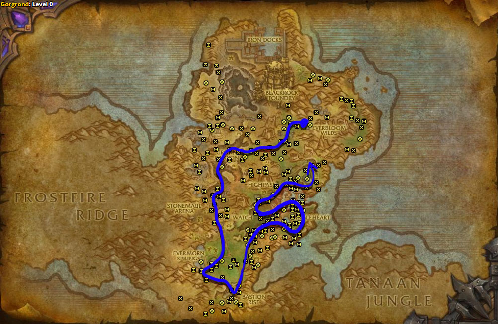 Best route for Gorgrond Flytrap farming in Gorgrond.