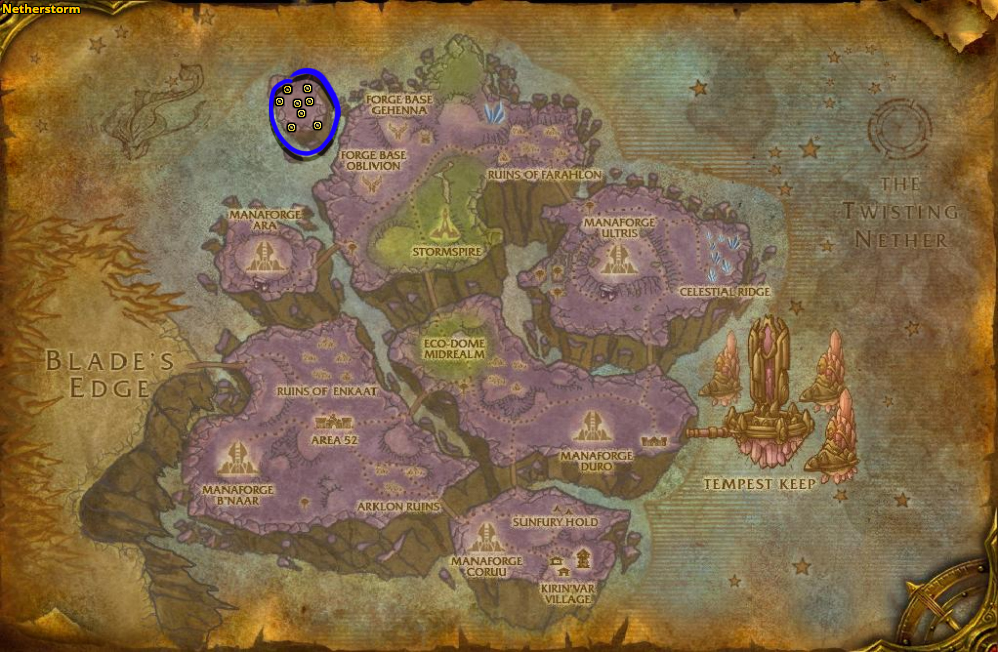 Best route for farming Mana Thistle in Netherstorm.