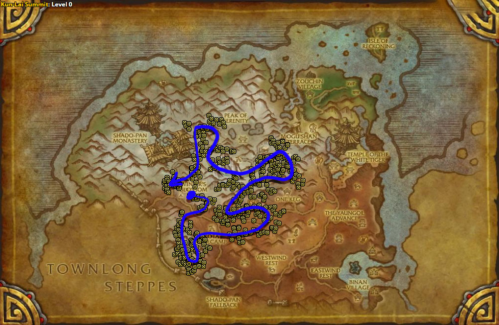 Best route for Snow Lily farming in Kun-Lai Summit.