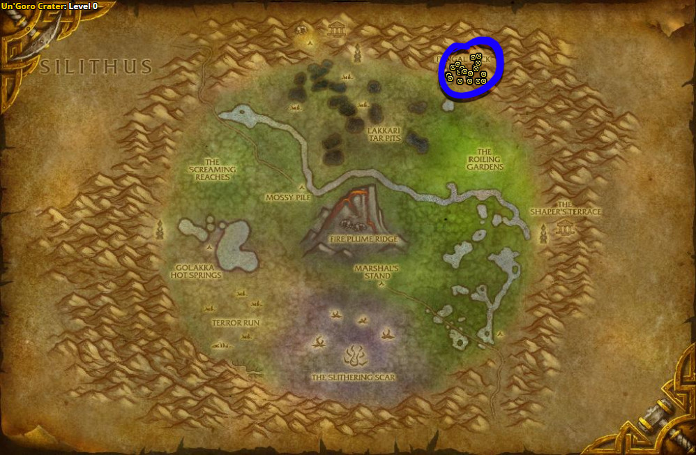 Best route for Ghost Mushroom farming in Un'Goro Crater.